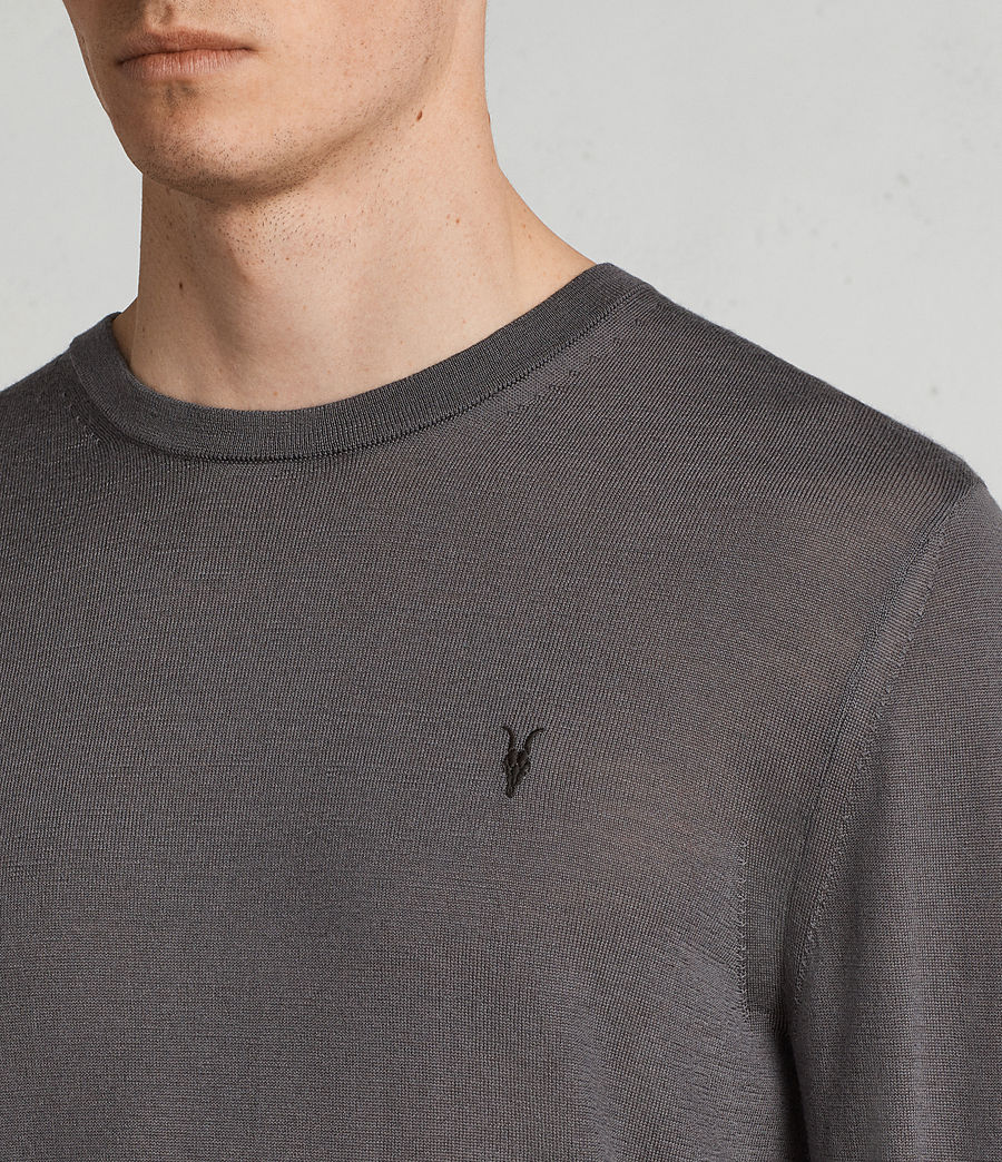 Men's Mode Merino Crew Jumper (slate_grey) - Image 2