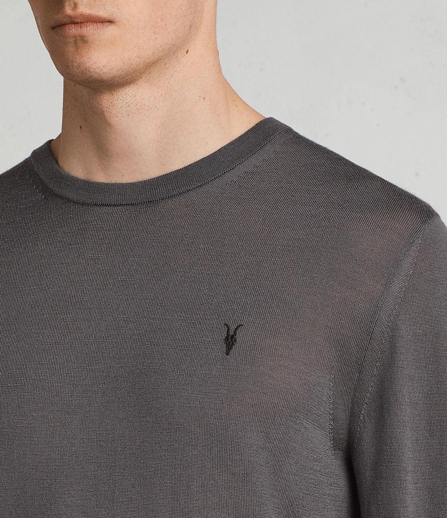 Herren Mode Merino Pullover (slate_grey) - Image 2