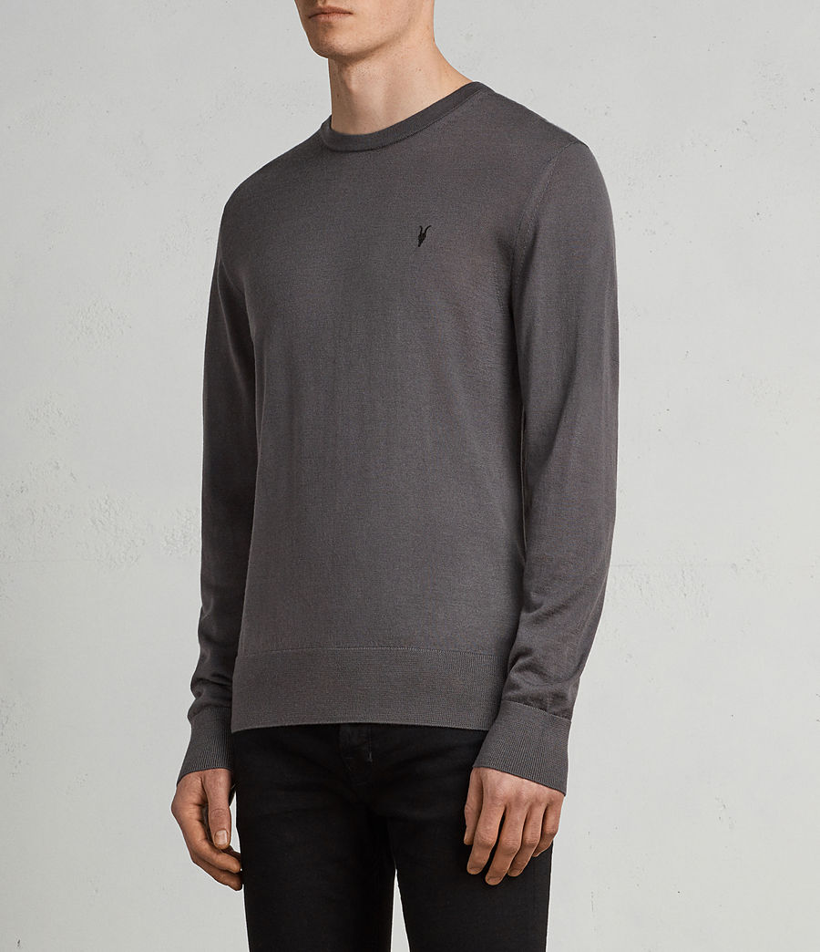 Men's Mode Merino Crew Jumper (slate_grey) - Image 3