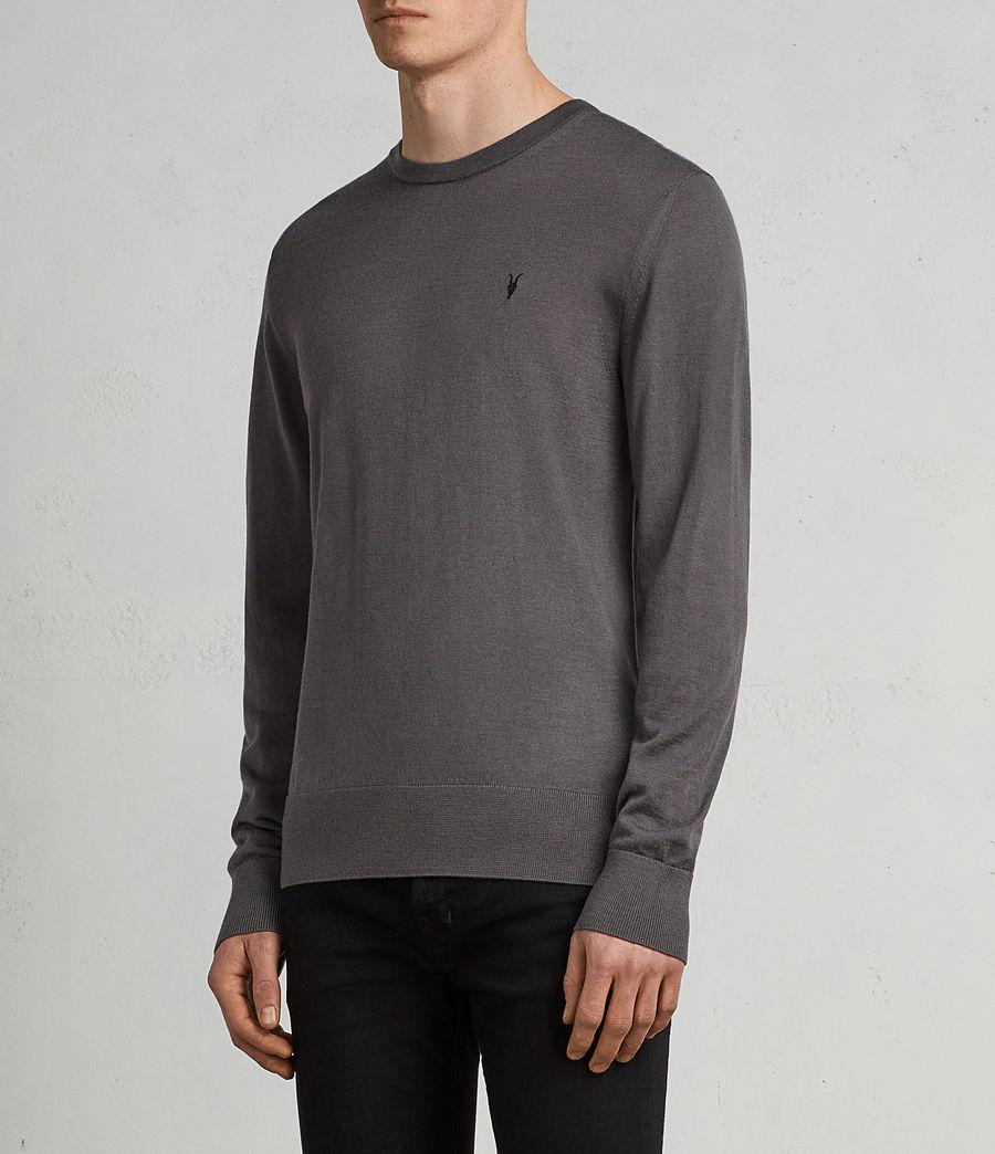 Herren Mode Merino Pullover (slate_grey) - Image 3