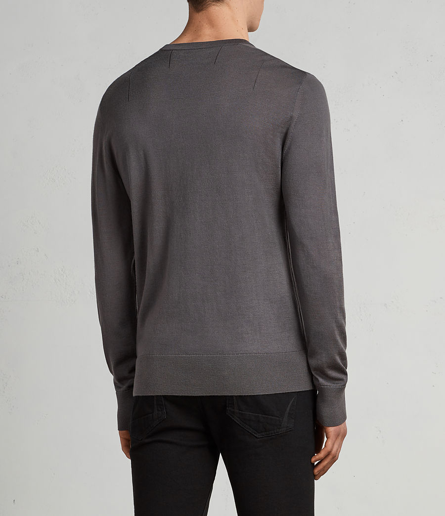Men's Mode Merino Crew Jumper (slate_grey) - Image 4