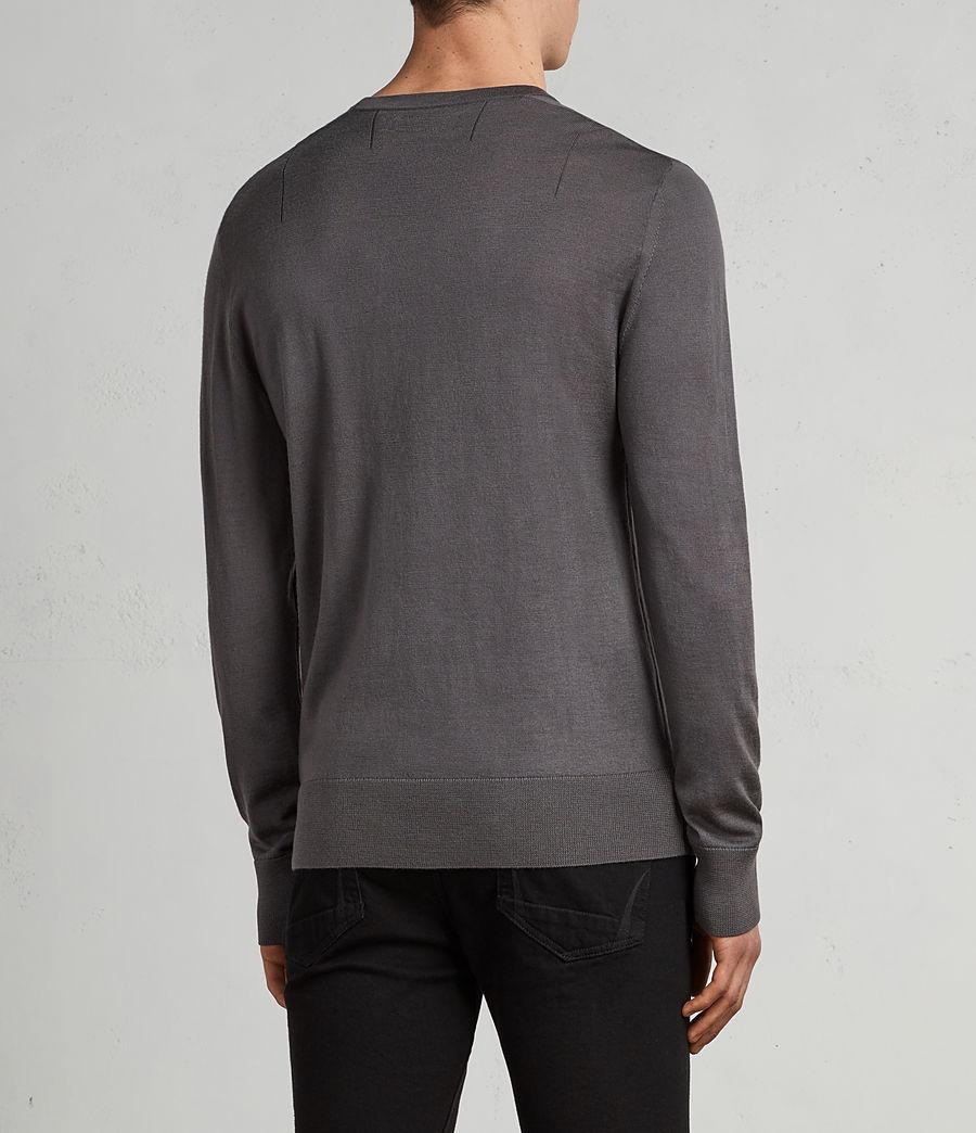 Herren Mode Merino Pullover (slate_grey) - Image 4