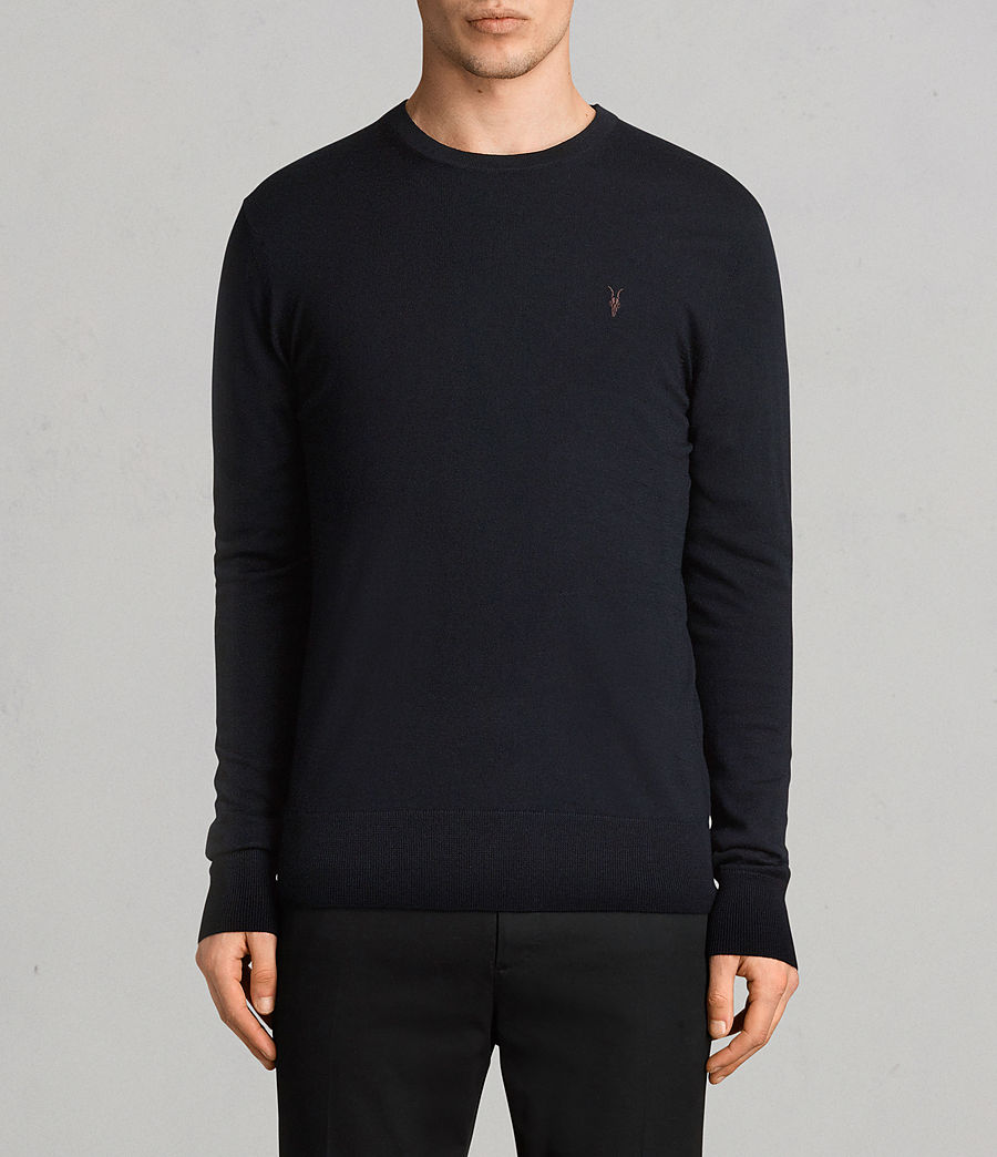 Mens Mode Merino Crew Sweater (ink) - Image 1