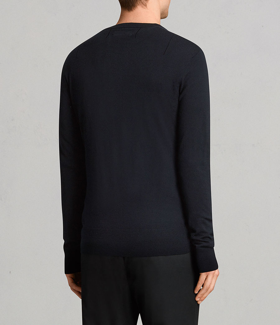 Mens Mode Merino Crew Sweater (ink) - Image 4