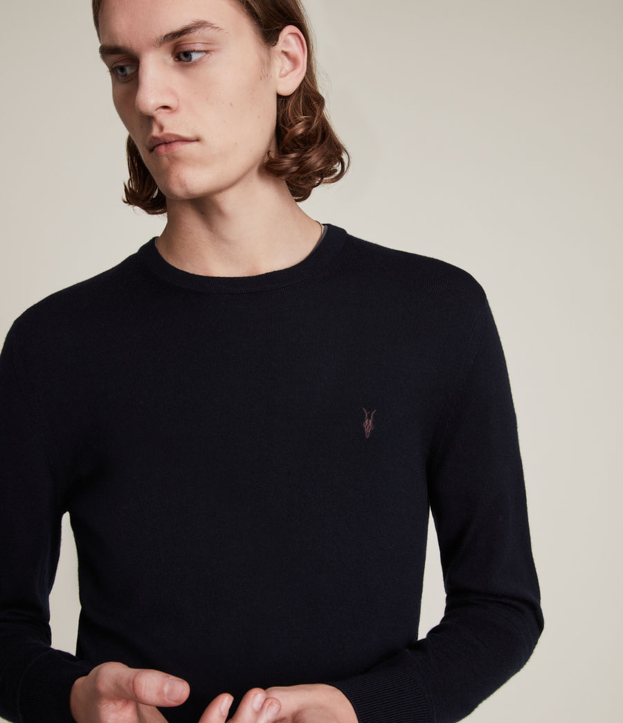 Mens Mode Merino Crew Sweater (ink_navy) - Image 2