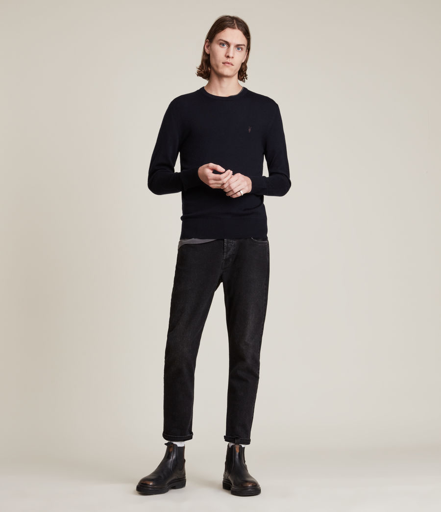 Mens Mode Merino Crew Sweater (ink_navy) - Image 3