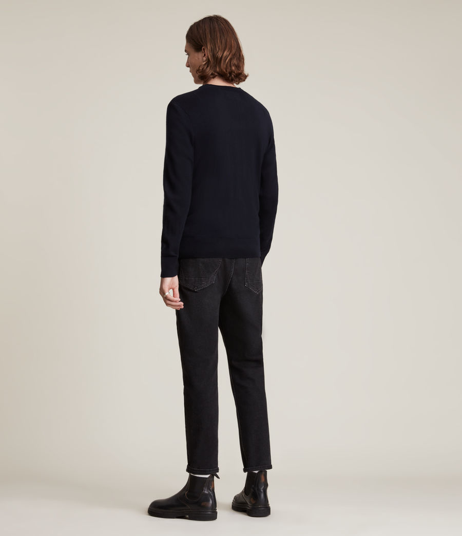 Mens Mode Merino Crew Sweater (ink_navy) - Image 4