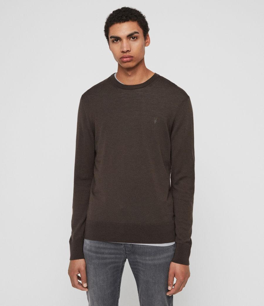 Hombre Mode Merino Crew Sweater (khaki_brown) - Image 1