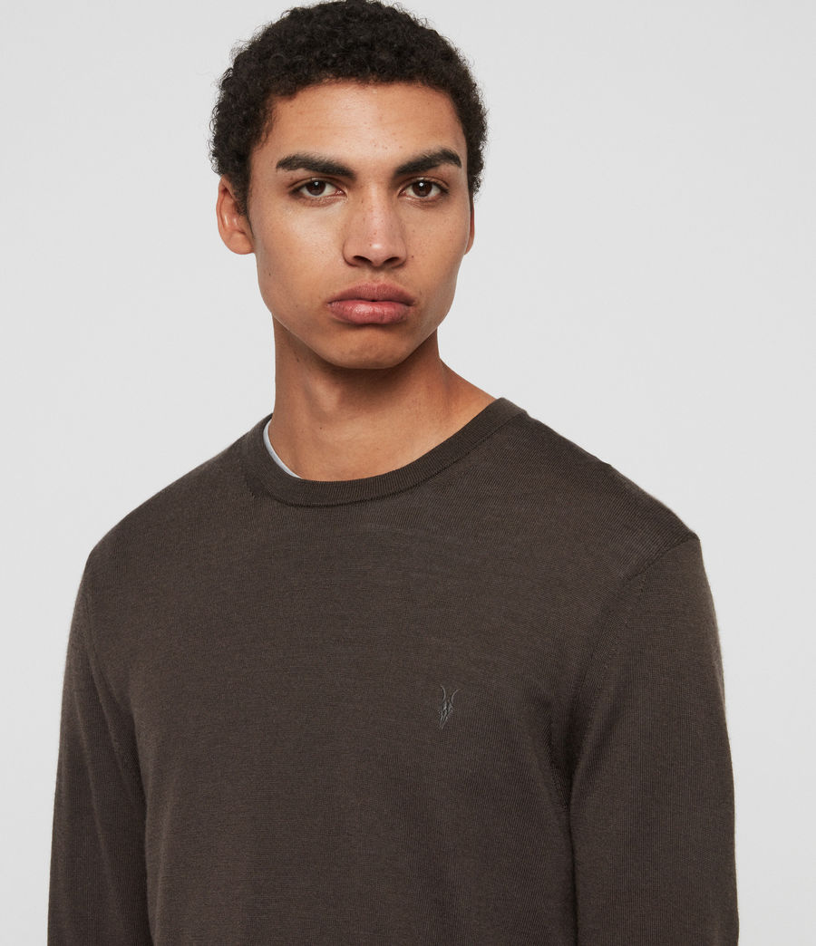 Hombre Mode Merino Crew Sweater (khaki_brown) - Image 2