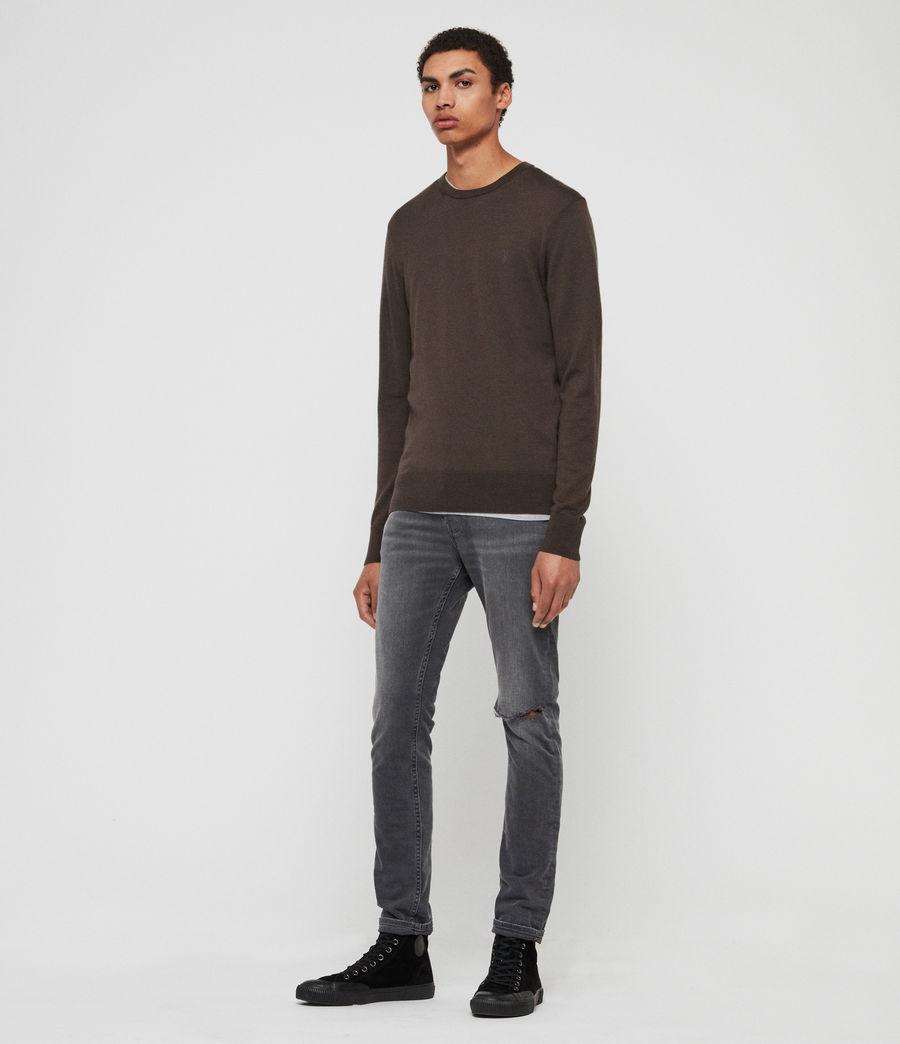 Hombre Mode Merino Crew Sweater (khaki_brown) - Image 3