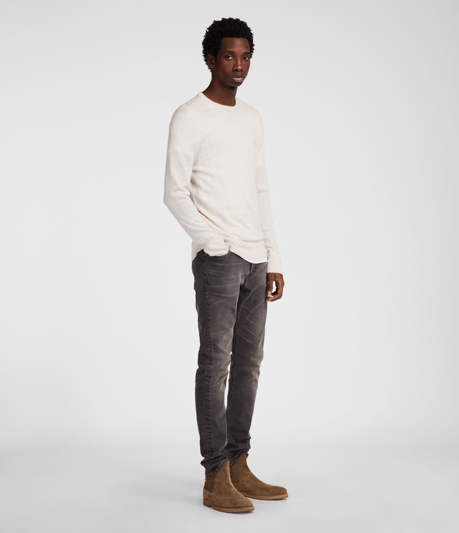 Mens Mode Merino Crew (chalk_white) - Image 1