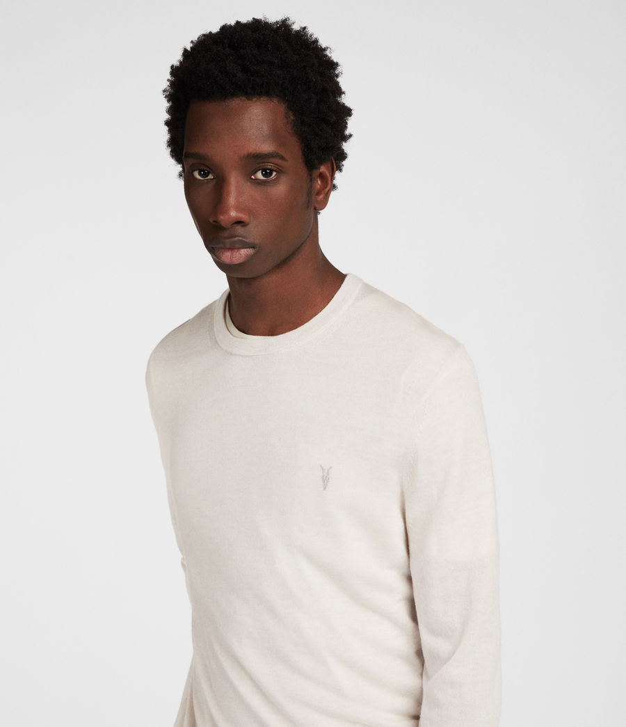 Mens Mode Merino Crew (chalk_white) - Image 2