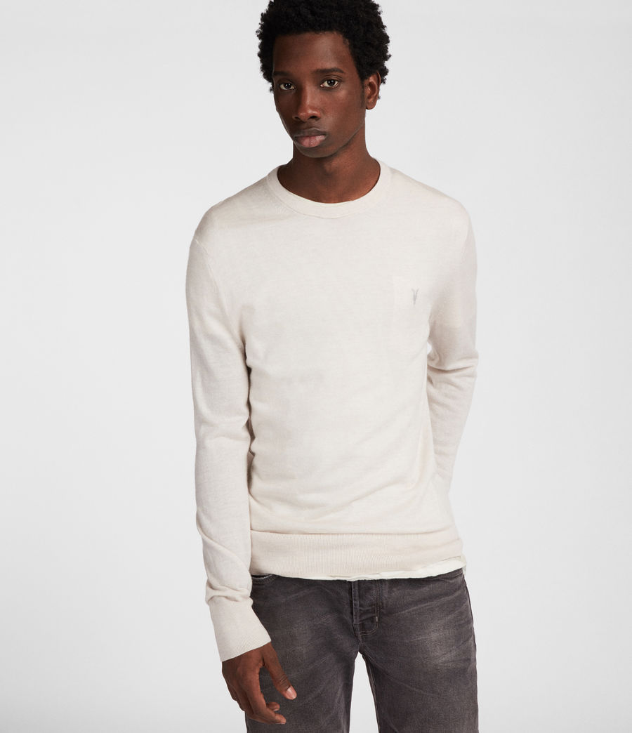 Mens Mode Merino Crew (chalk_white) - Image 3