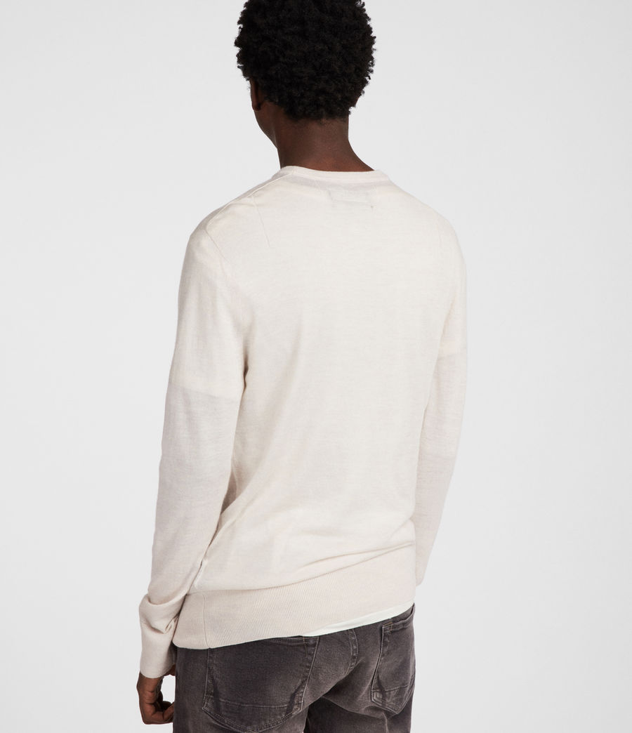 Mens Mode Merino Crew (chalk_white) - Image 4