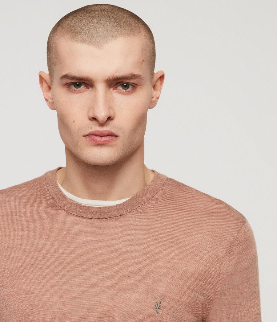 Mens Mode Merino Crew Sweater (dusty_pink_marl) - Image 2