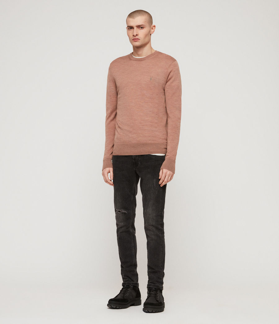 Mens Mode Merino Crew Sweater (dusty_pink_marl) - Image 3