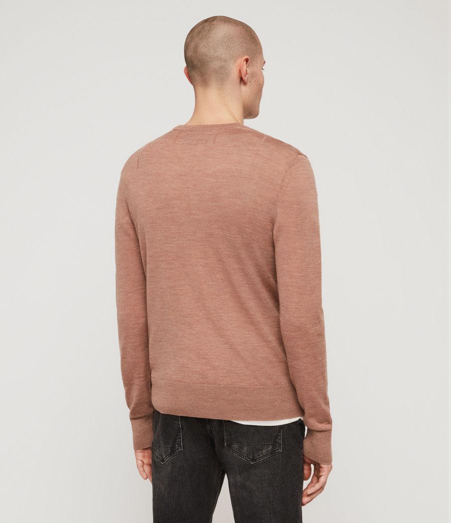 Mens Mode Merino Crew Sweater (dusty_pink_marl) - Image 4