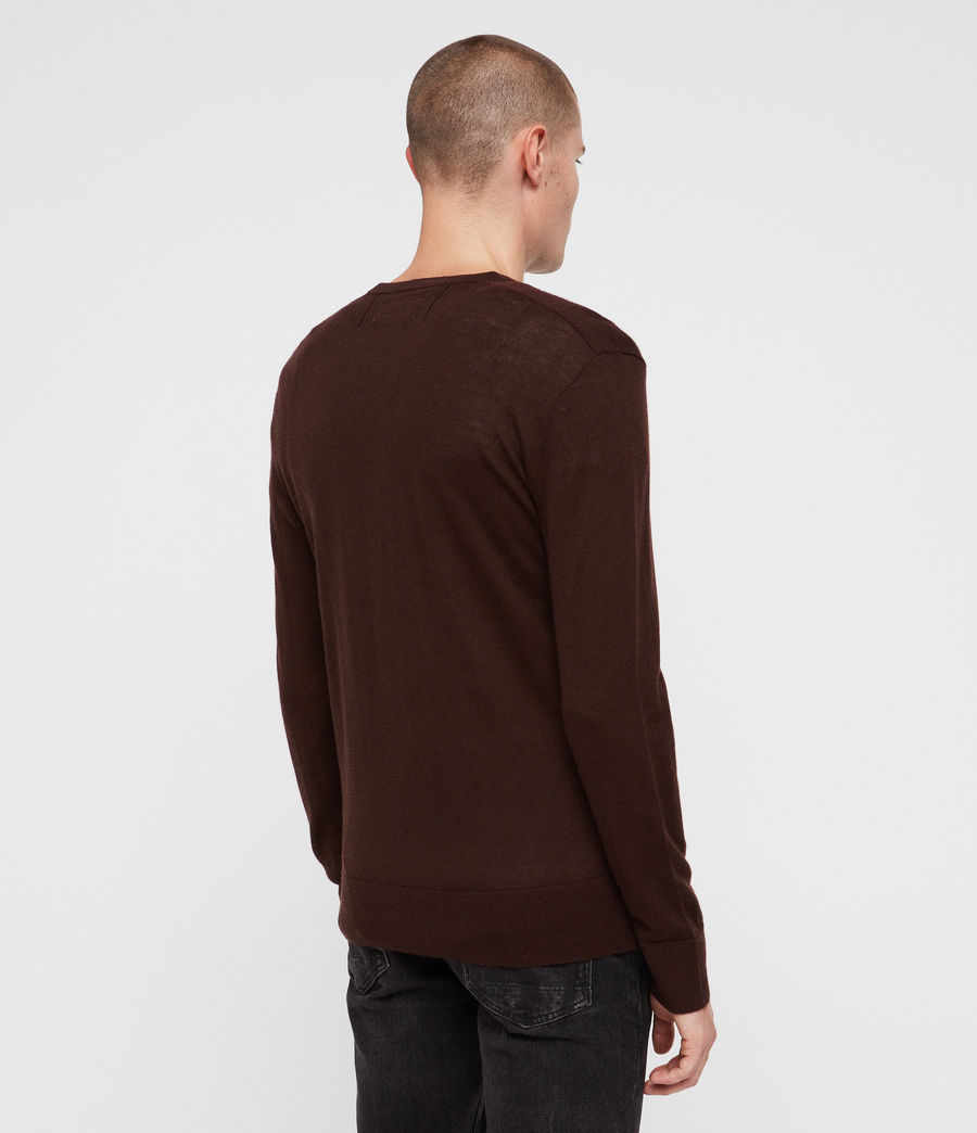 Mens Mode Merino Crew Sweater (oxblood_red) - Image 5