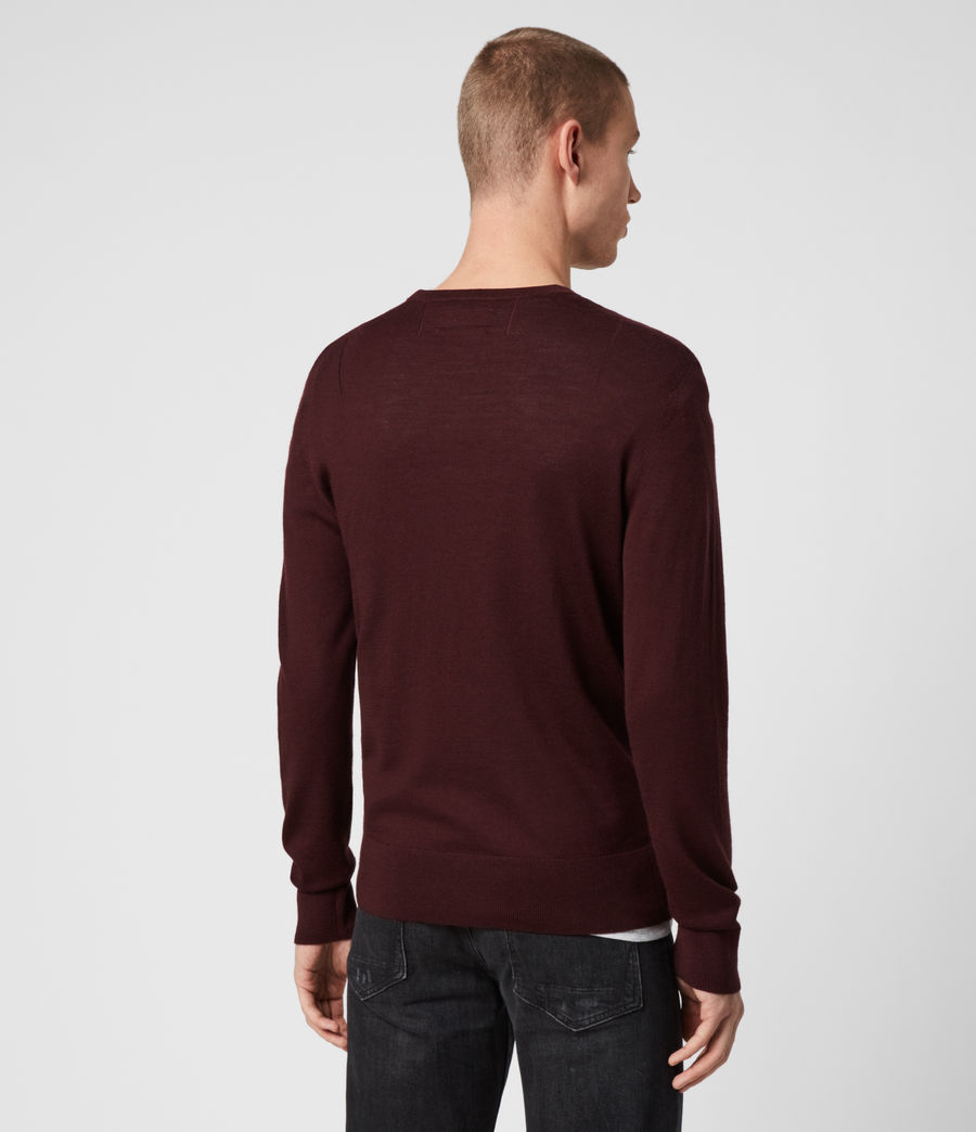 Mens Mode Merino Crew Sweater (maroon_red) - Image 5