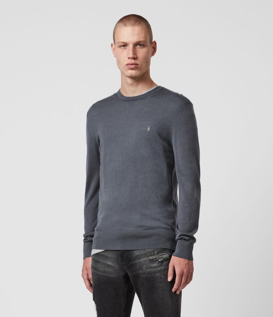 Mens Mode Merino Crew Sweater (shadow_blue) - Image 1