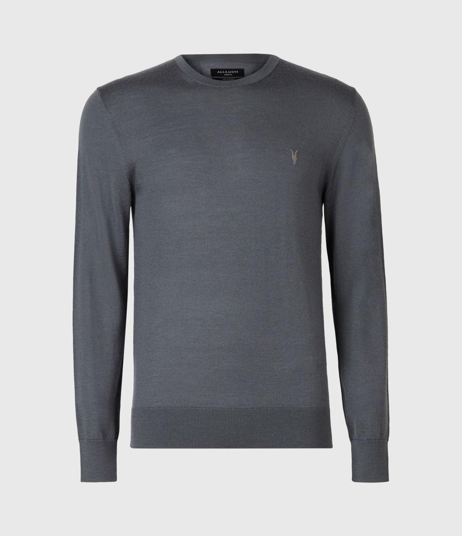 Mens Mode Merino Crew Sweater (shadow_blue) - Image 2