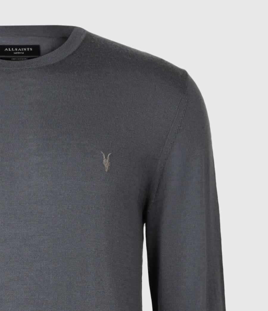 Mens Mode Merino Crew Sweater (shadow_blue) - Image 4