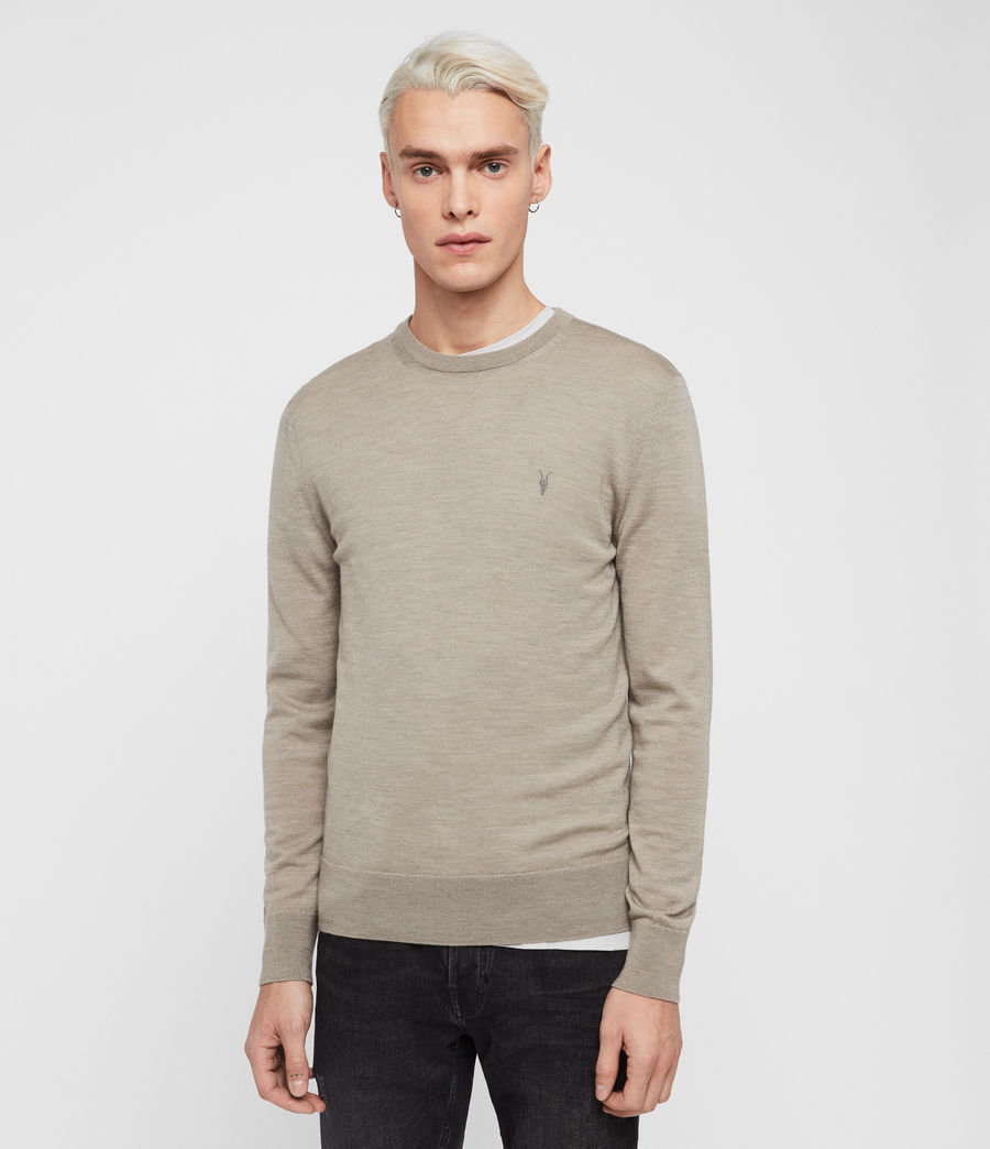 Hombres Jersey Mode Merino (light_grey_marl) - Image 1