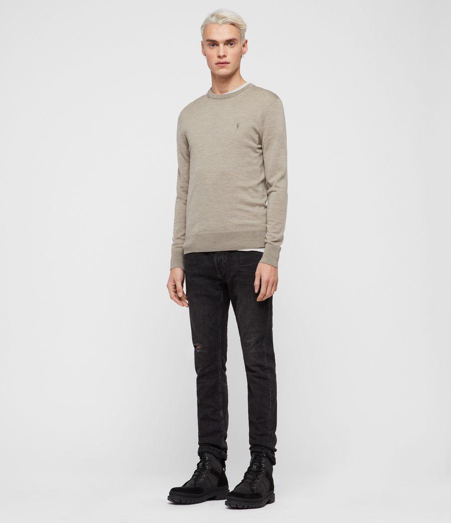 Hombres Jersey Mode Merino (light_grey_marl) - Image 3