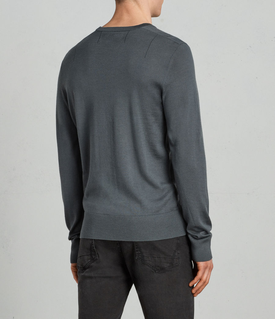 Men's Mode Merino Crew Jumper (flint_green) - Image 3