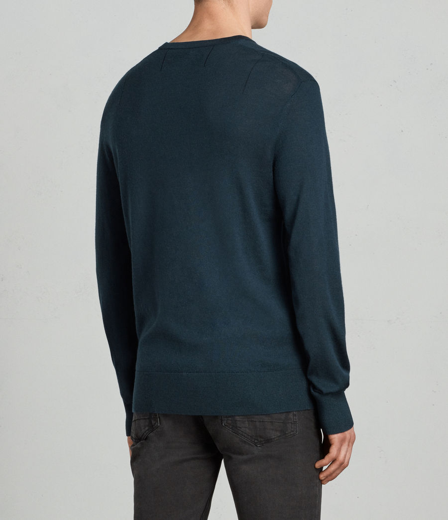 Men's Mode Merino Crew Jumper (oil_blue) - Image 3