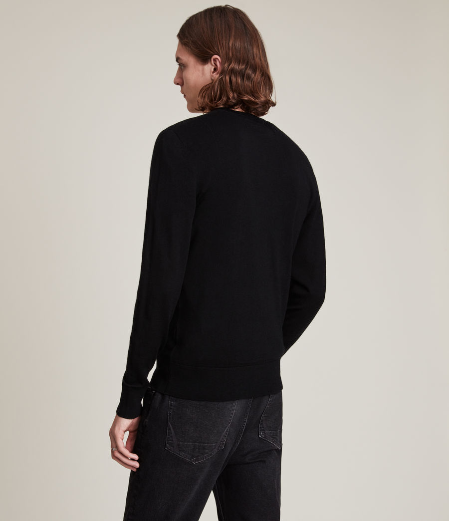 Mens Mode Merino Crew Sweater (black) - Image 4