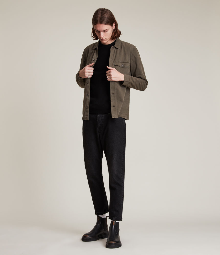 Men's Mode Merino Crew Jumper (black) - Image 5