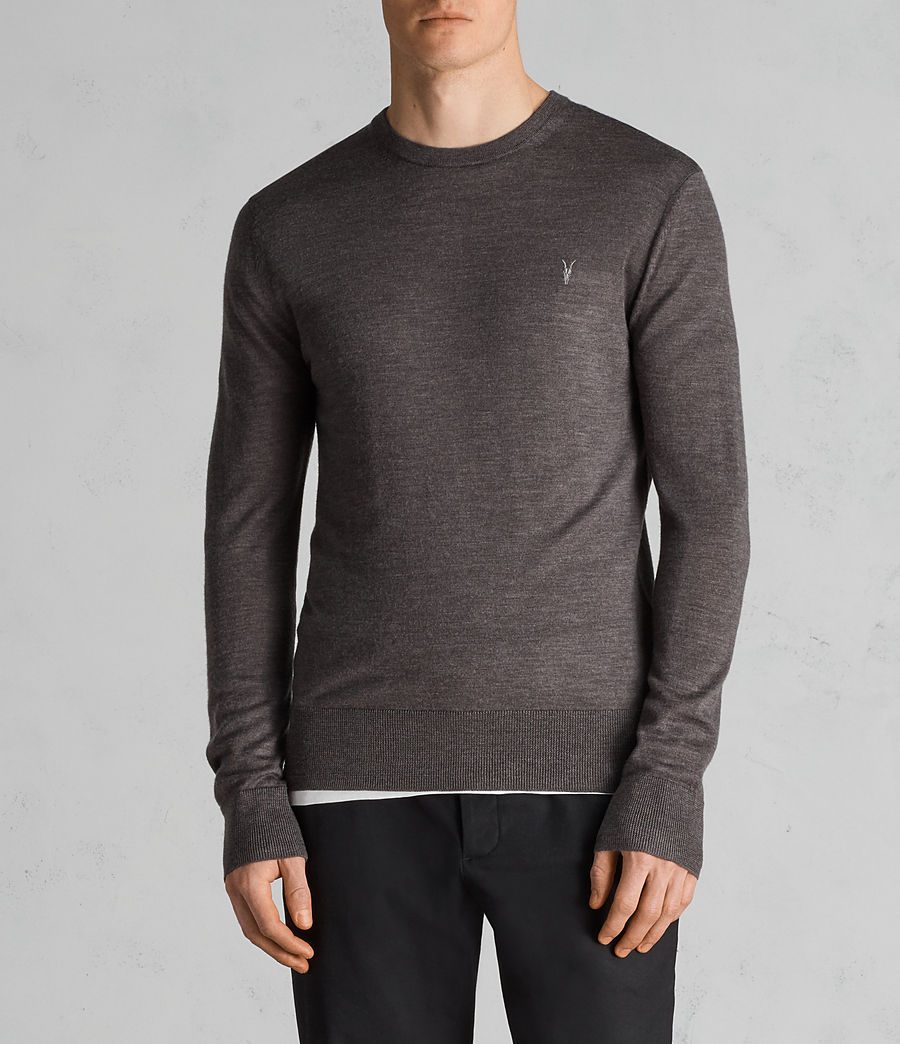 Men's Mode Merino Crew Jumper (heath_grey_marl) - Image 1