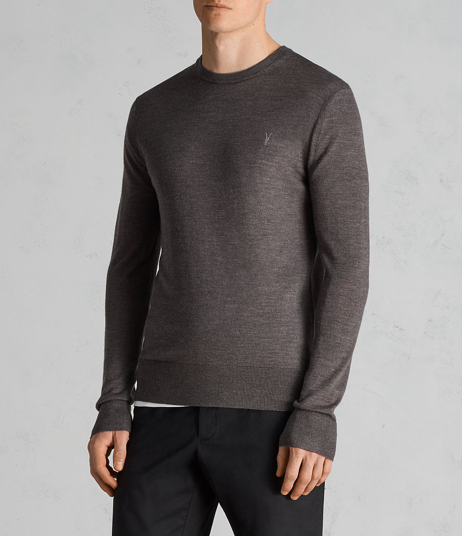Men's Mode Merino Crew Jumper (heath_grey_marl) - Image 3