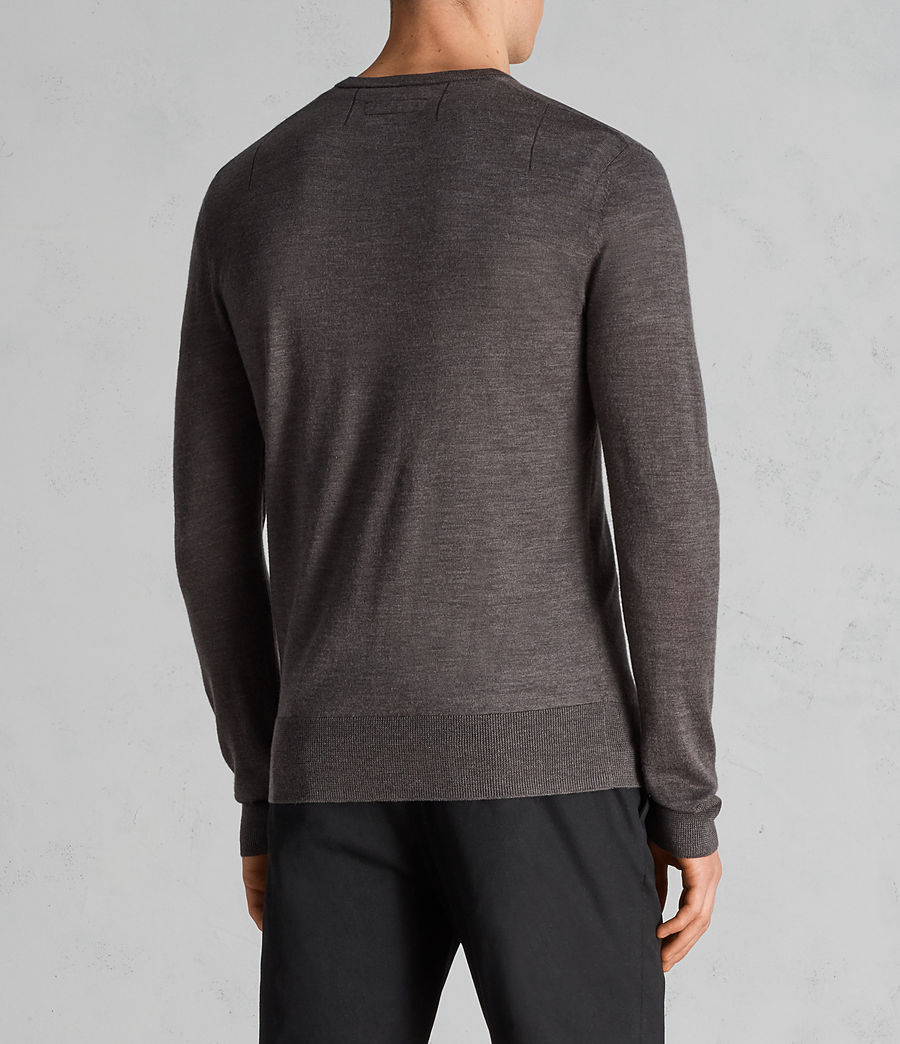 Mens Mode Merino Crew Sweater (heath_grey_marl) - Image 4