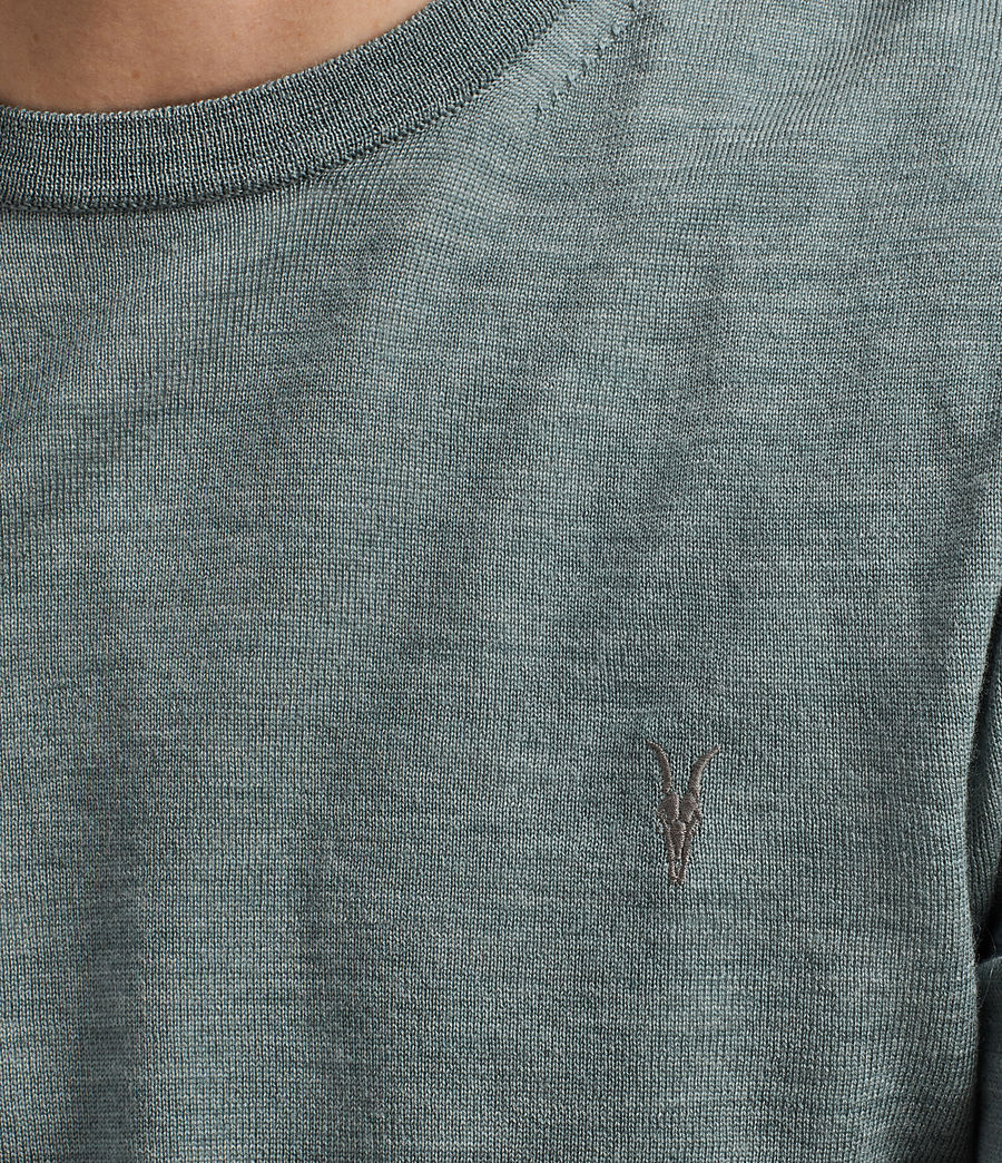 Men's Mode Merino Crew Jumper (palm_green_marl) - Image 2