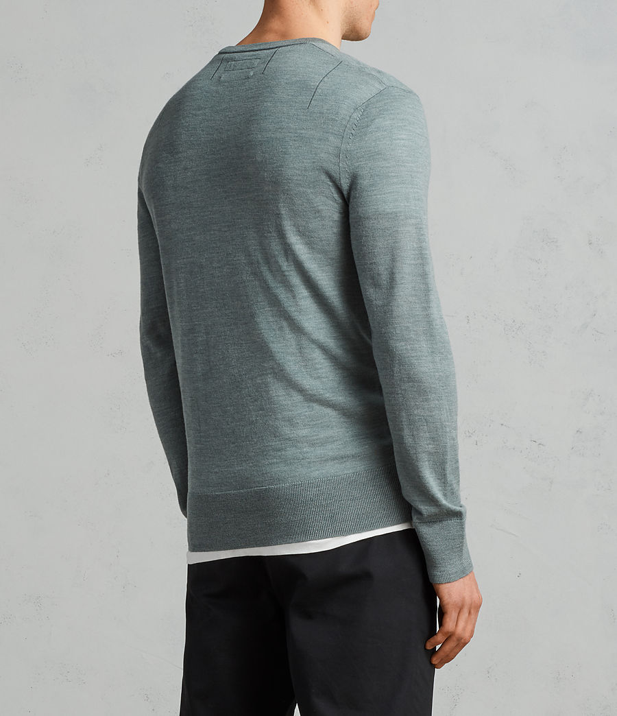 Men's Mode Merino Crew Jumper (palm_green_marl) - Image 4