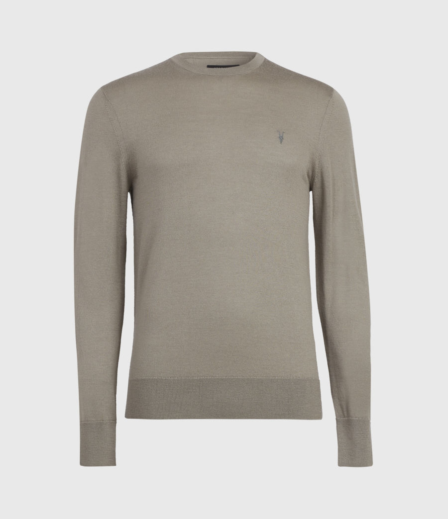 Mens Mode Merino Crew Sweater (bay_green_marl) - Image 2