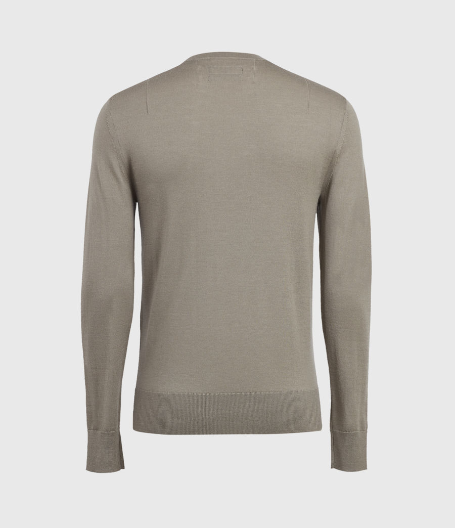 Mens Mode Merino Crew Sweater (bay_green_marl) - Image 3
