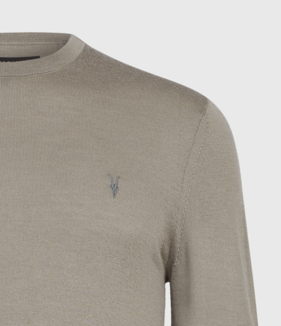 Men's Mode Merino Crew Jumper (light_grey_marl) - Image 9