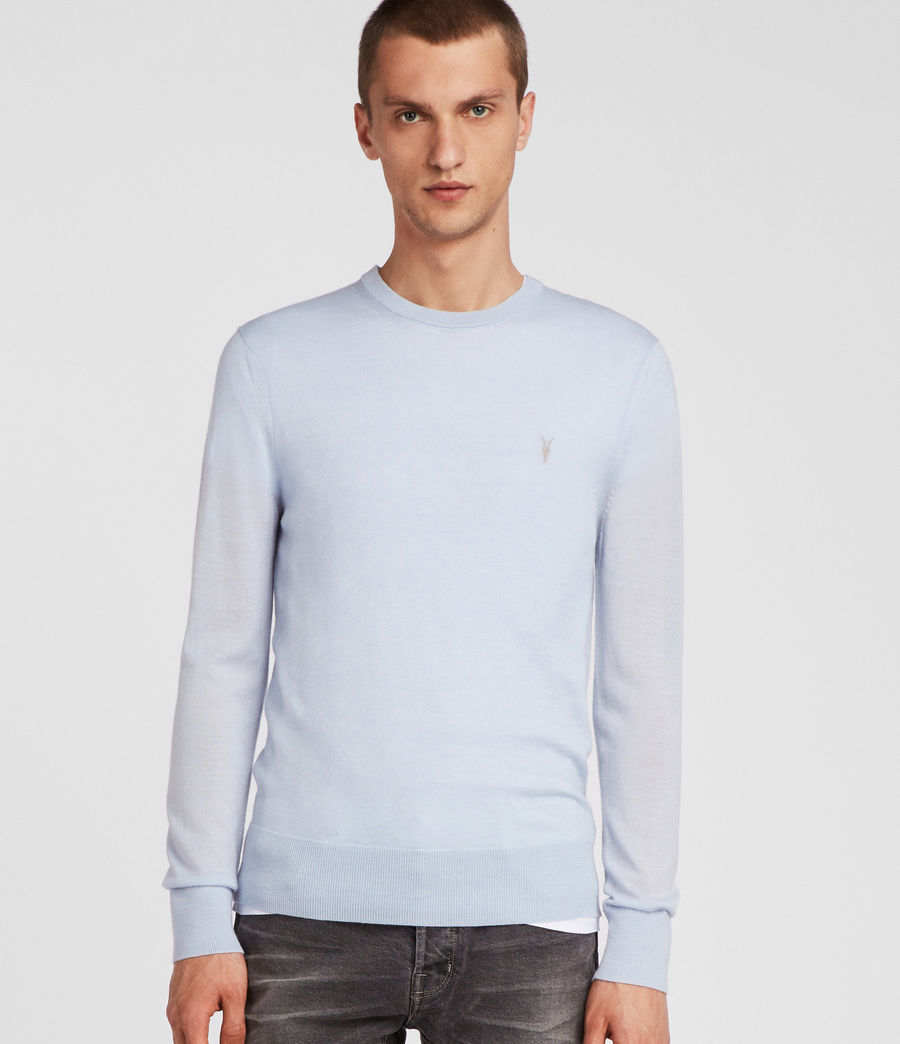 Men's Mode Merino Crew Jumper (foss_blue) - Image 3