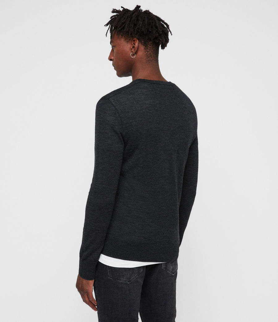 Mens Mode Merino Crew Sweater (tar_black_marl) - Image 5