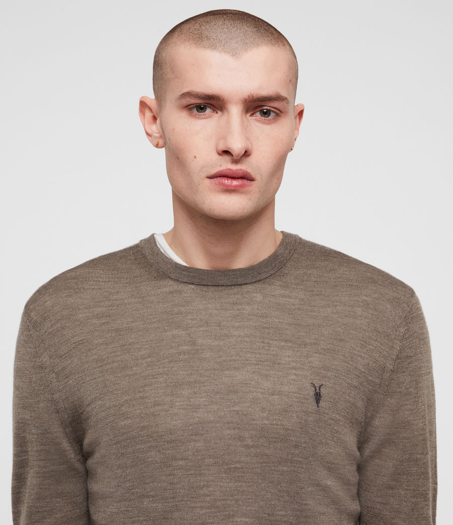 Hommes Pull Mode Merino (light_grey_marl) - Image 2
