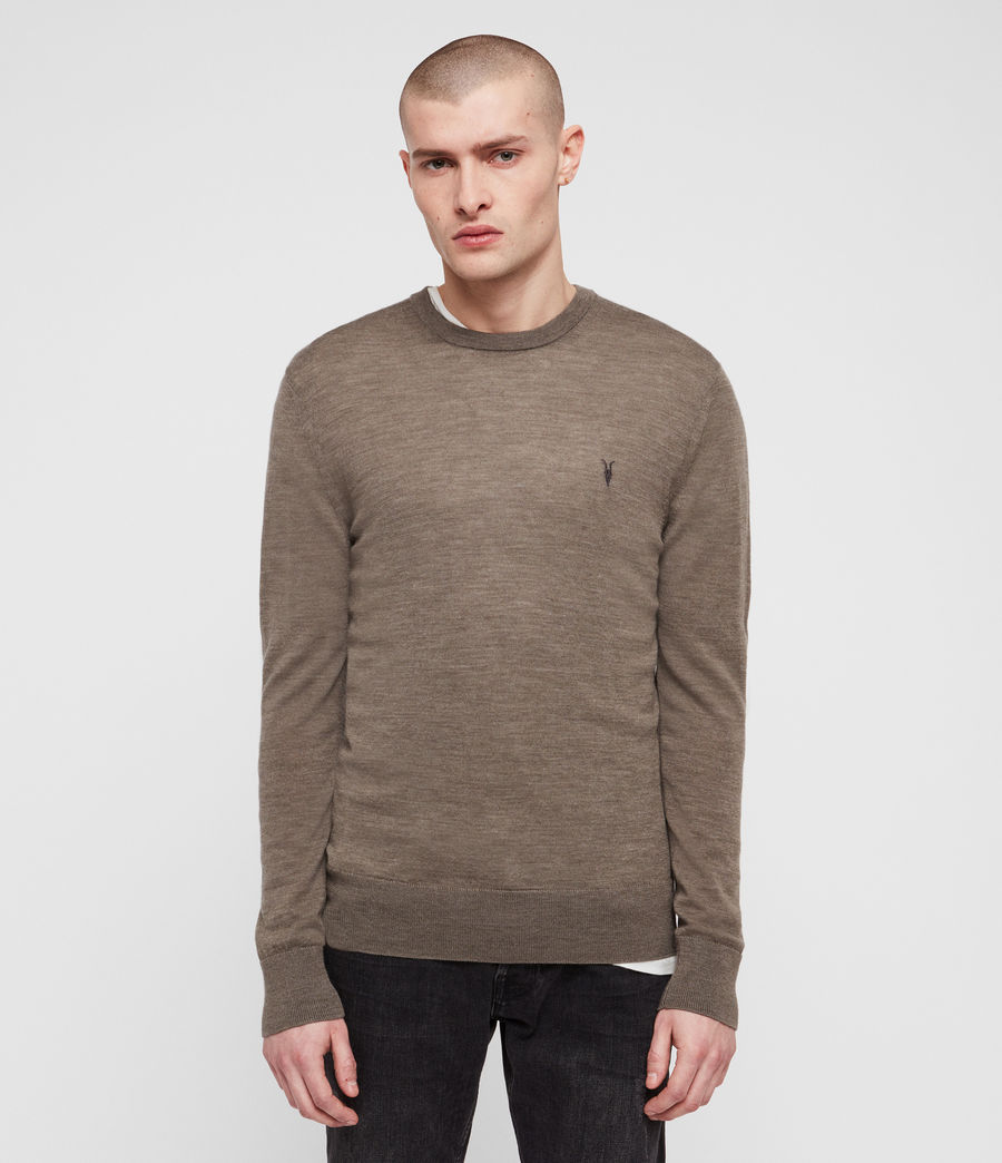 Hommes Pull Mode Merino (light_grey_marl) - Image 3