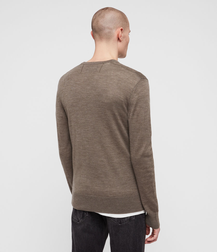 Hommes Pull Mode Merino (light_grey_marl) - Image 4