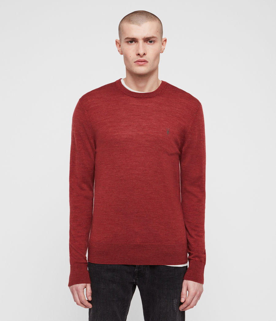 Men's Mode Merino Crew Jumper (light_grey_marl) - Image 1