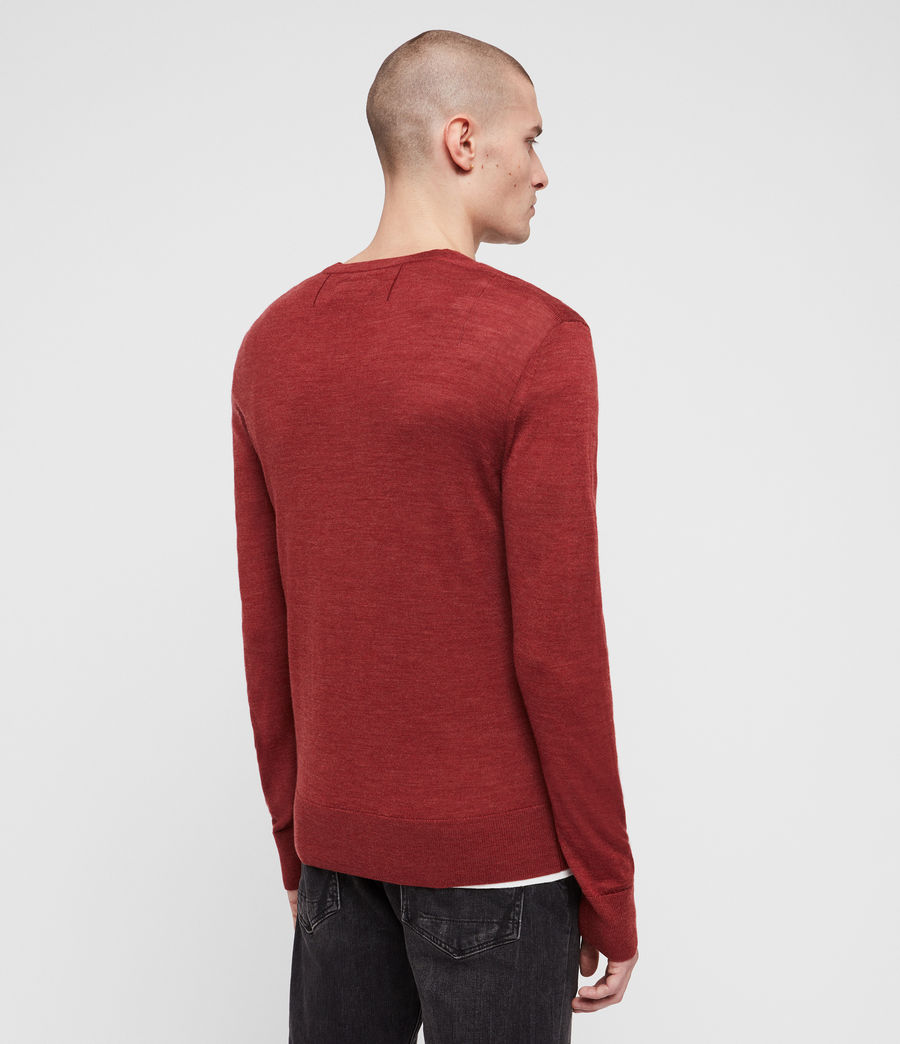 Men's Mode Merino Crew Jumper (light_grey_marl) - Image 4