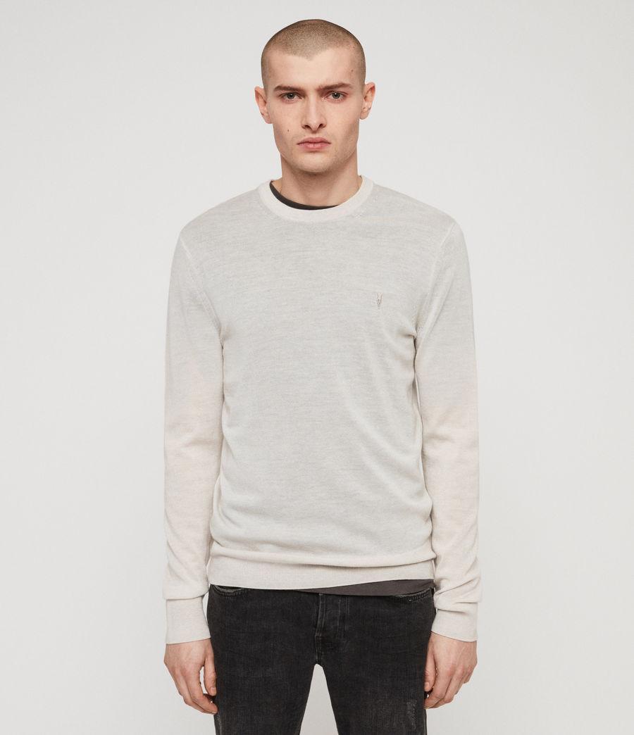 Herren Mode Merino Pullover (light_grey_marl) - Image 1