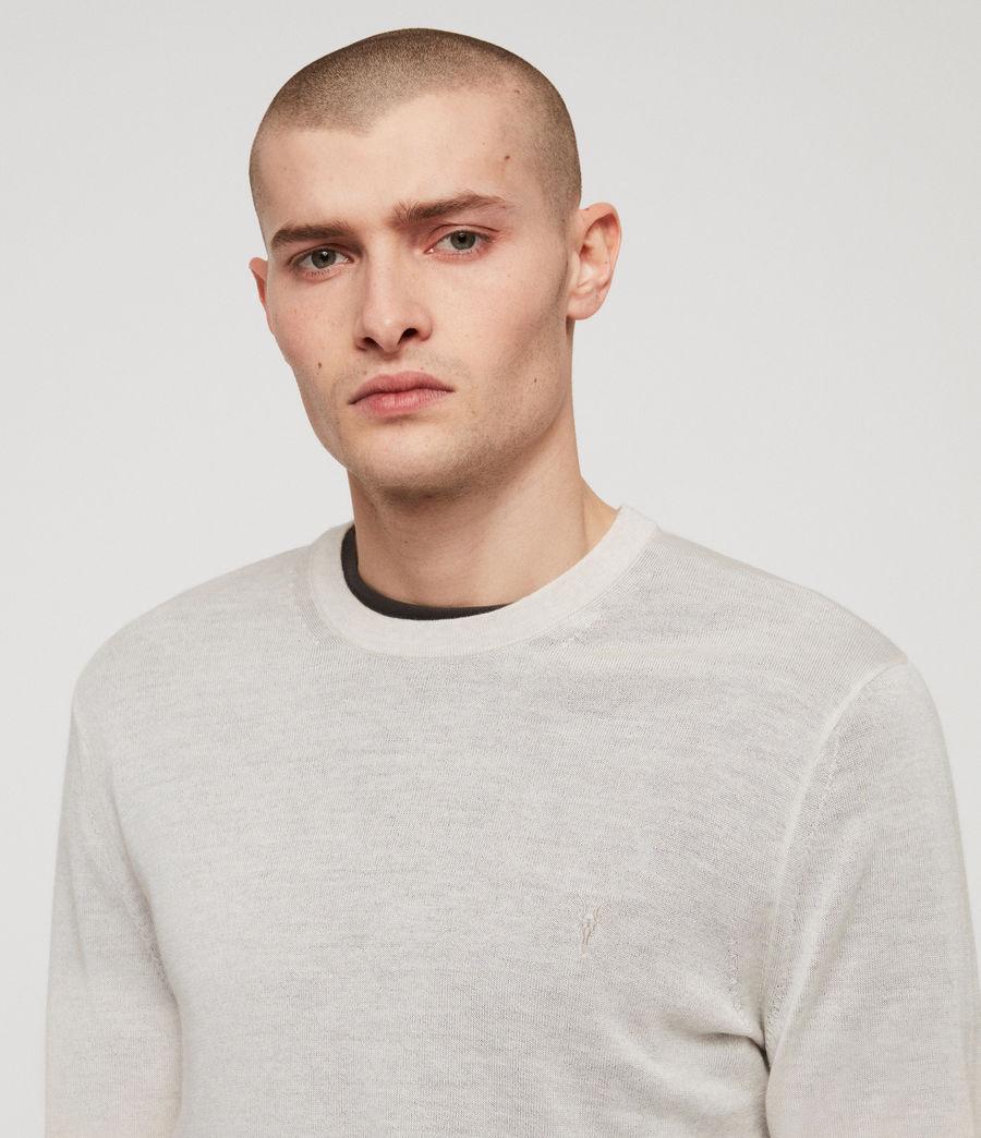 Herren Mode Merino Pullover (light_grey_marl) - Image 2