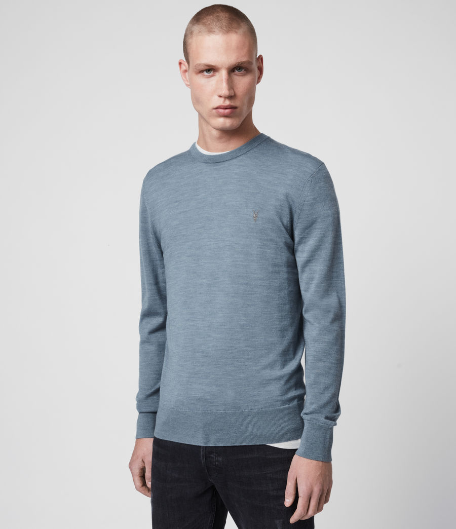 Hommes Pull Mode Merino (light_grey_marl) - Image 5